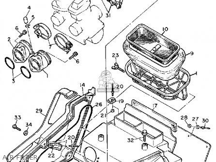 Yamaha Tt600s Off Road 1986 parts list partsmanual partsfiche