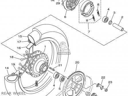 Yamaha TTR125 TTR125LC 2002 (2) USA CALIFORNIA / LARGE