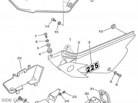 Yamaha TTR225 TTR225C 1999 (X) USA CALIFORNIA parts lists