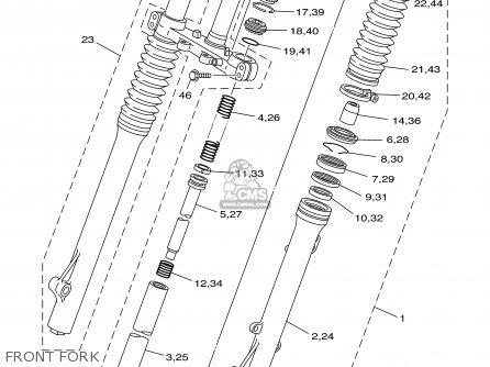 Yamaha TTR225 TTR225C 2001 (1) USA CALIFORNIA parts lists