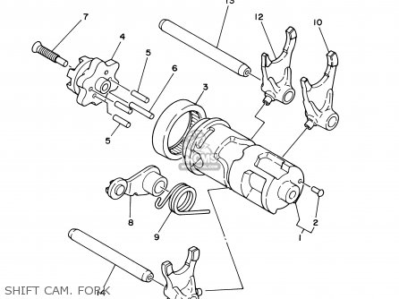 Yamaha Ttr225 Ttr225c 2003 (3) Usa California parts list
