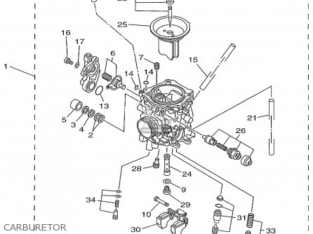 Yamaha Ttr225l/lc 1999 parts list partsmanual partsfiche