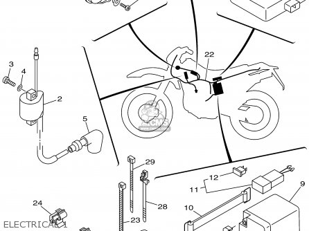 Yamaha Ttr250n/nc 2001 parts list partsmanual partsfiche