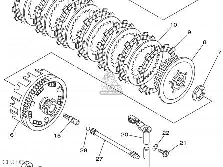 Yamaha Ttr250p/pc 2002 parts list partsmanual partsfiche