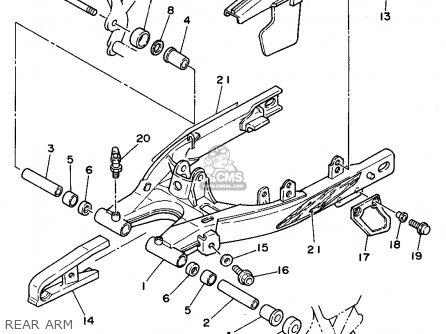 Yamaha Tw200 1994 3awh Trailway Usa parts list partsmanual