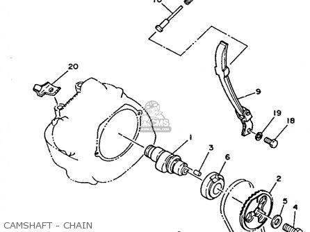 Yamaha Tw200 Trailway 1987 (h) Usa parts list partsmanual