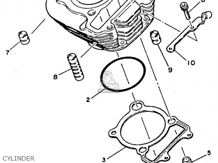 Yamaha TW200 TRAILWAY 1987 (H) USA parts lists and schematics