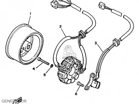 Yamaha TW200 TRAILWAY 1988 (J) USA parts lists and schematics