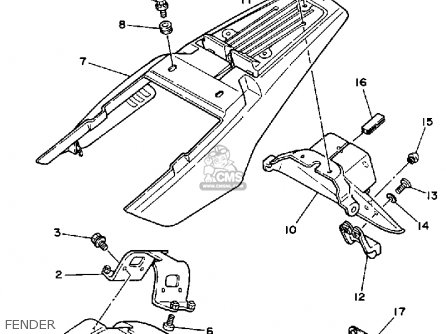 Yamaha TW200 TRAILWAY 1991 (M) USA parts lists and schematics