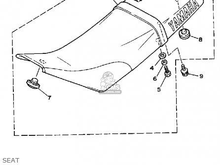 Yamaha Tw200 Trailway 1991 (m) Usa parts list partsmanual