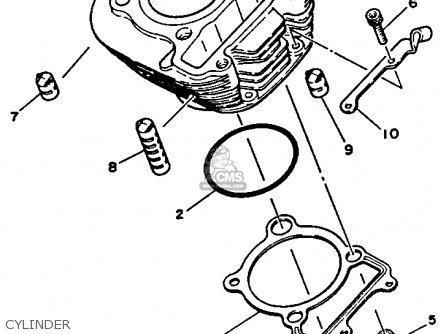 Yamaha Tw200 Trailway Gr/b 1990 (l) California parts list