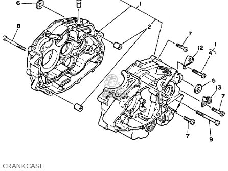 Yamaha Tw200 Tw200c Trailway 1989 (k) Usa California parts