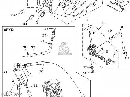 Yamaha Tw200 Tw200c Trailway 2002 (2) Usa California parts