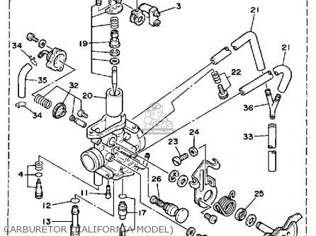 Yamaha Tw200b 1991 parts list partsmanual partsfiche