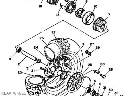 Yamaha Tw200c Trailway 1987 (h) California parts list