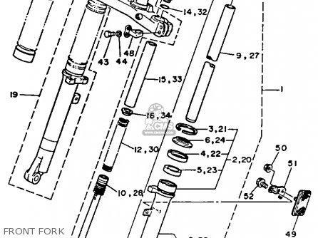 Yamaha Tw200c Trailway 1988 (j) California parts list