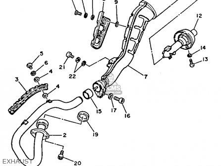 Yamaha Tw200tc Trailway 1987 parts list partsmanual partsfiche