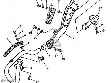 Yamaha Tw200uc Trailway 1988 parts list partsmanual partsfiche