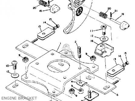 Yamaha Tw433f 1974 parts list partsmanual partsfiche
