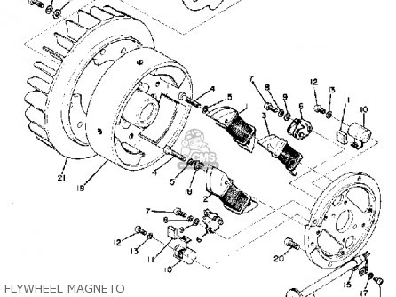 Yamaha TW433F 1974 parts lists and schematics