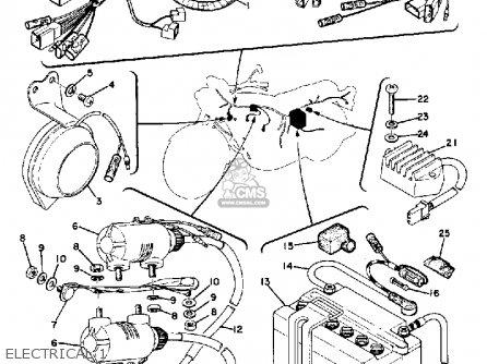 Yamaha Tx500 1973-1975 parts list partsmanual partsfiche