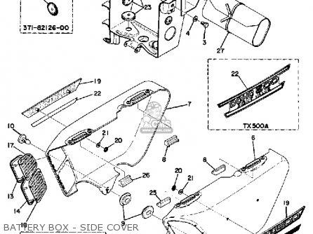 Yamaha Tx500 1973 Usa parts list partsmanual partsfiche