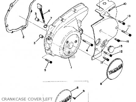 Yamaha Tx500 1973 Usa parts list partsmanual partsfiche