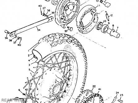 Yamaha Tx650 1970 1971 1972 1973 Usa parts list