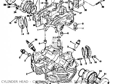 Yamaha TX650 1974 1975 1976 USA parts lists and schematics