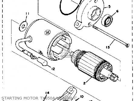 Yamaha Tx650 1974 1975 1976 Usa parts list partsmanual