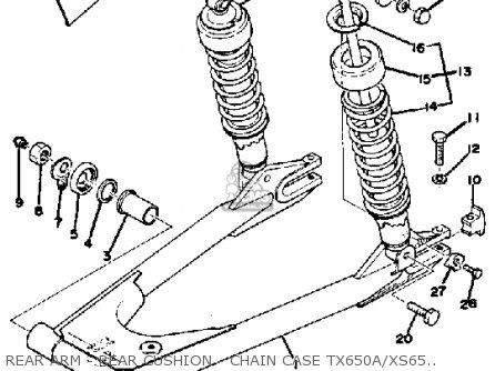 Yamaha Tx650a 1974-1976 parts list partsmanual partsfiche