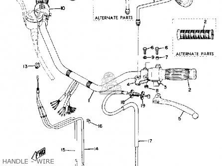 Yamaha Tx750 1973 Usa parts list partsmanual partsfiche
