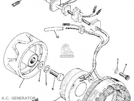 Yamaha Tx750 1974 Usa parts list partsmanual partsfiche