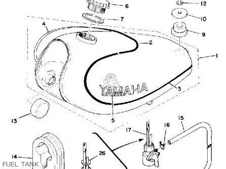 Yamaha TY175 1976 USA parts lists and schematics