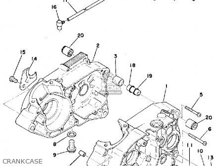 Yamaha Ty175b 1975 parts list partsmanual partsfiche