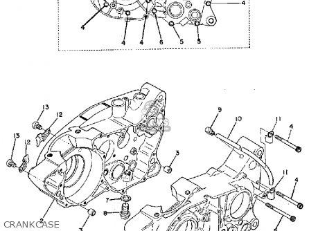 Yamaha TY250 1974 USA parts lists and schematics