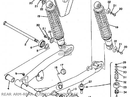 Yamaha Ty250 1974 Usa parts list partsmanual partsfiche