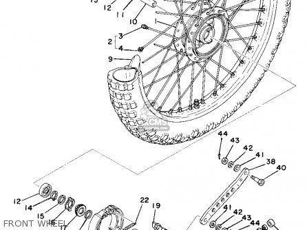 Yamaha Ty250 1976 Usa parts list partsmanual partsfiche