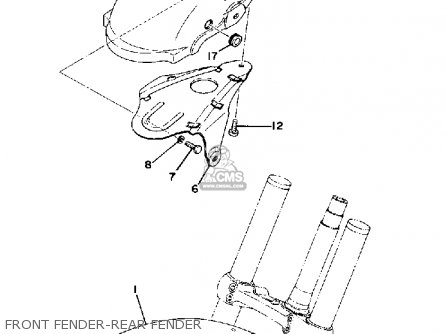 Yamaha Ty250 1977 Usa parts list partsmanual partsfiche