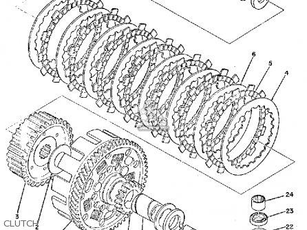 Yamaha Ty250a 1974 parts list partsmanual partsfiche