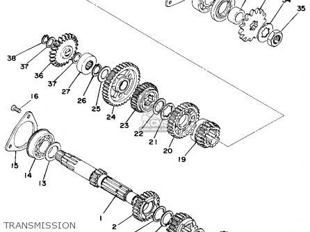 Yamaha Ty250c 1976 parts list partsmanual partsfiche