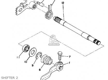 Yamaha Ty250d 1977 parts list partsmanual partsfiche