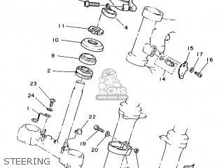 Yamaha Ty250s 1988 59n England 2859n-310e1 parts list