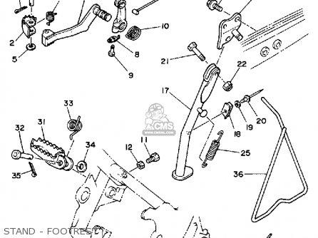 Yamaha Ty350 1986 (g) Usa parts list partsmanual partsfiche