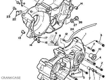 Yamaha Ty350 Trials 1985 (f) Usa Canada parts list