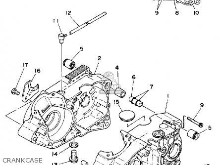 Yamaha Tz125 1980 (a) Usa parts list partsmanual partsfiche