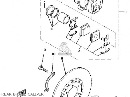 Yamaha TZ125 1980 (A) USA parts lists and schematics