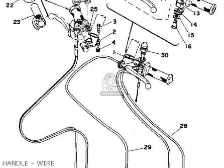 Yamaha Tz250 1977 Usa parts list partsmanual partsfiche