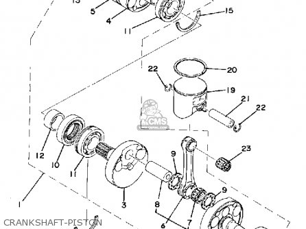Yamaha Tz250 1980 (a) Usa parts list partsmanual partsfiche