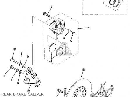Yamaha TZ250 1980 (A) USA parts lists and schematics